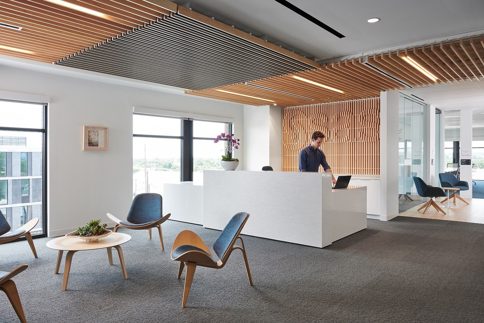 Take a Look Inside SAS's New Austin Office | Lounge design, Industrial office design, Interior architecture