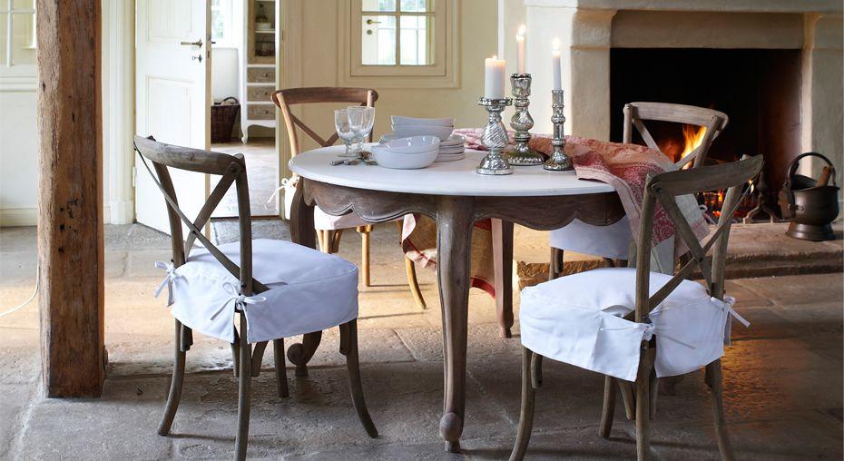 Tisch Narbonne, Stuhl Créteil Und Tischdecke Sulfolk #Esszimmer #loberon