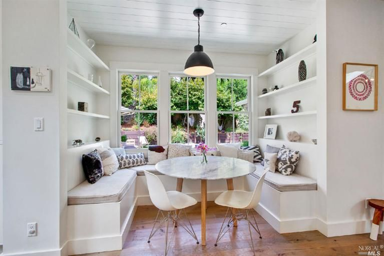 Contemporary Dining Room With Window Seat Hektar Pendant Lamp Fair Window Seat In Dining Room Decorating Inspiration