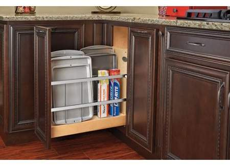 Rev A Shelf 447 Bcbbsc 8c 8 In Pull Out Wood Foil Wrap Tray