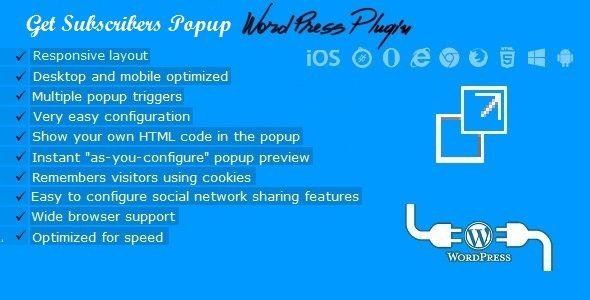 Get Subscribers - Exit Popup for WordPress