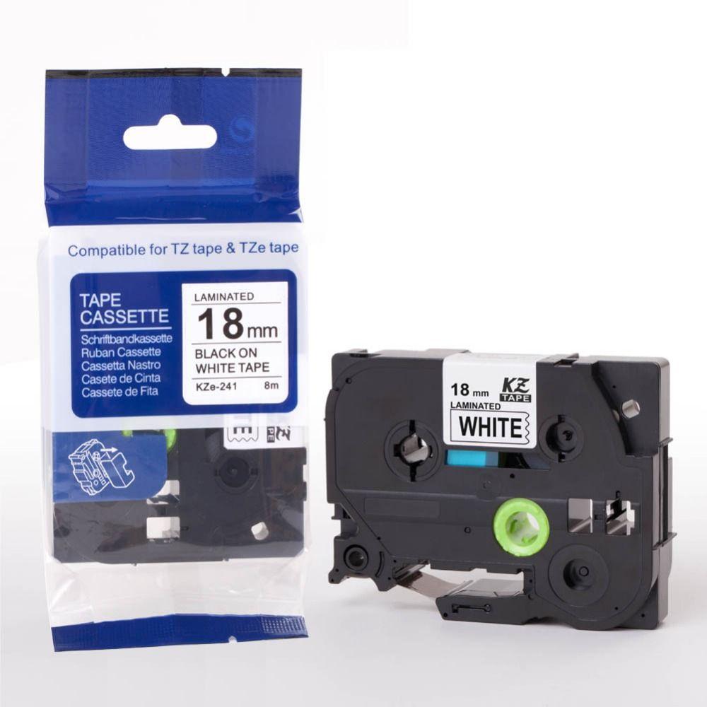 18mm Tz Tze Label Tape Tz241 Tze 241 Tze241 Tz241 Tze 241 For P Touch Label Printer Label Maker Ribbon Tape Cart Label Printer Security Labels Label Maker Tape