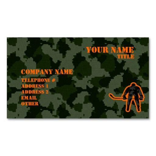 Camo hockey business cards hunter business cards pinterest camo hockey business cards colourmoves