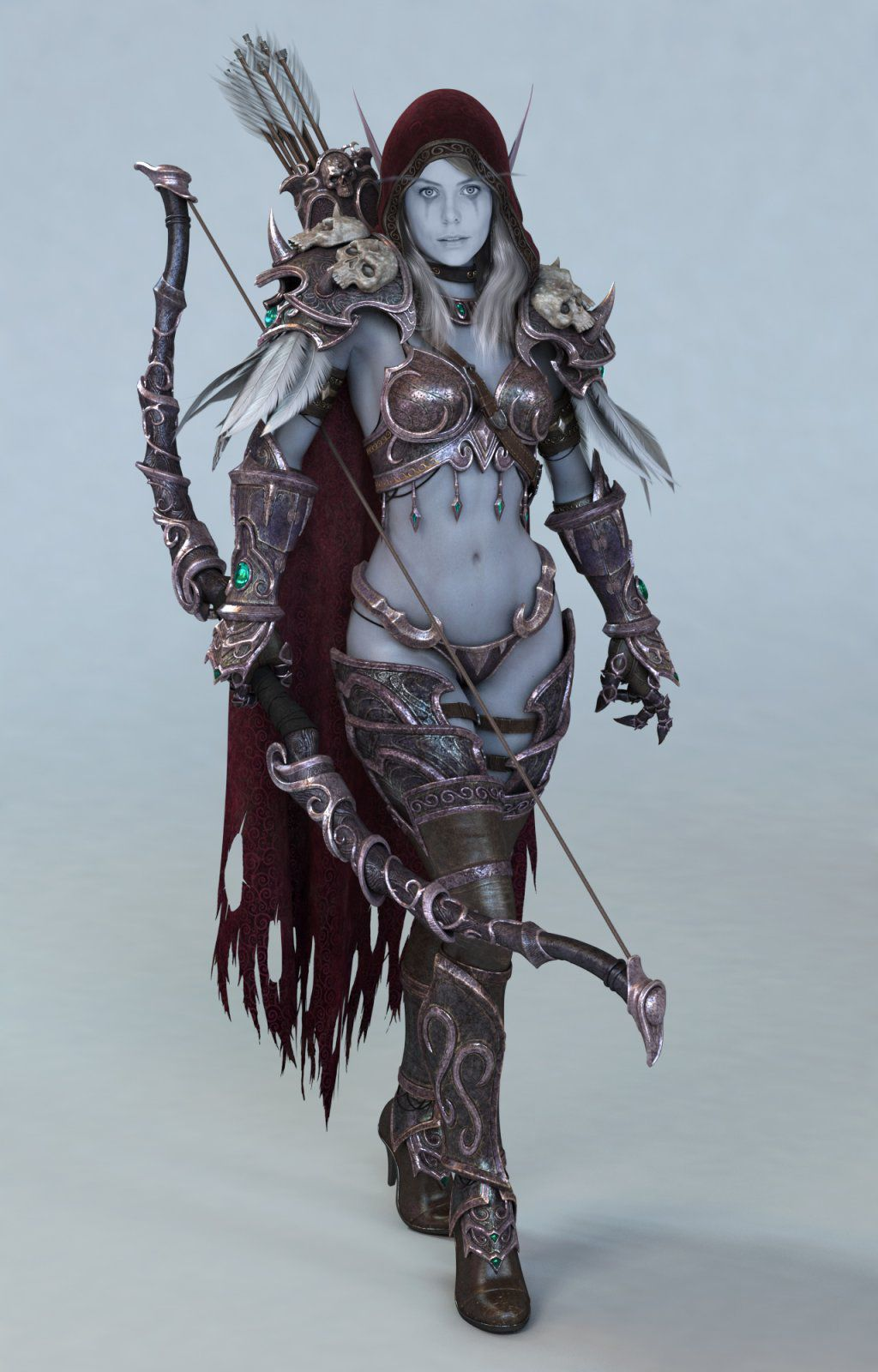 "WOW World of Warcraft Forsaken Queen Sylvanas Windrunner Figure 5/""-5.5/"" HIGH"