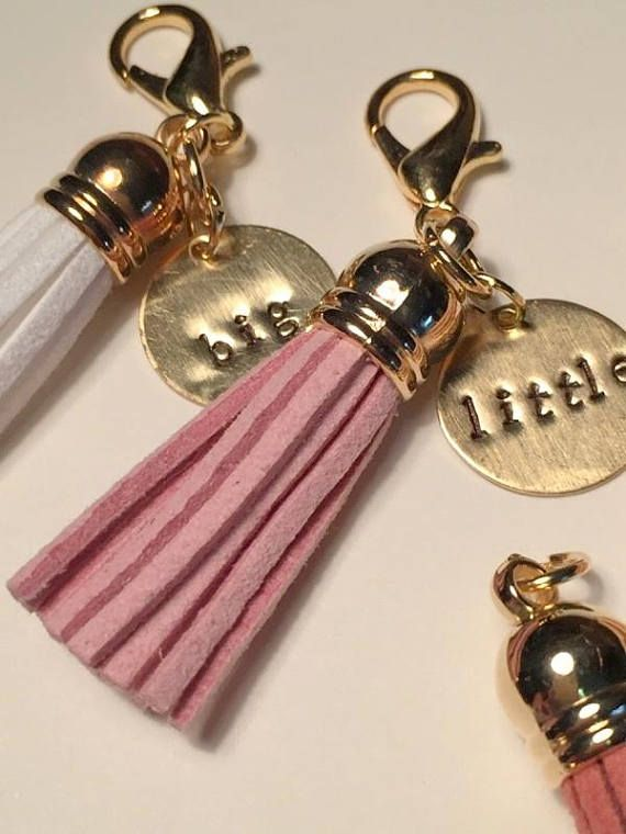 Big Little Gift Set, Big Little Keychain, Big Little Reveal, Tassel Keychain, Tassel Purse Charm, Big Little Tribal Keychain, Big/Lil Charm #biglittlereveal