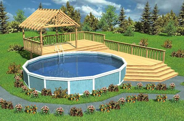 Above Ground Swimming Pool Deck Designs image of above ground pool decks pictures Above Ground Pool Deck Design Ideas