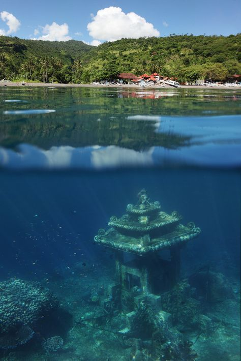 Underwater Temple in Bali Amed Village | 15 Best Temples in Bali Indonesia | Bali Temples Guide | Travel Photography | Snorkeling and Scuba diving in Bali | Photo by Dudarev Mikhail/Bigstock for AdventureDragon.com | #Bali #Underwater #Temples #Indonesia #Scuba #Scubadiving #Travelphotography #Travel #Island #Islandlife #Ocean #Beautifulnature #Photography