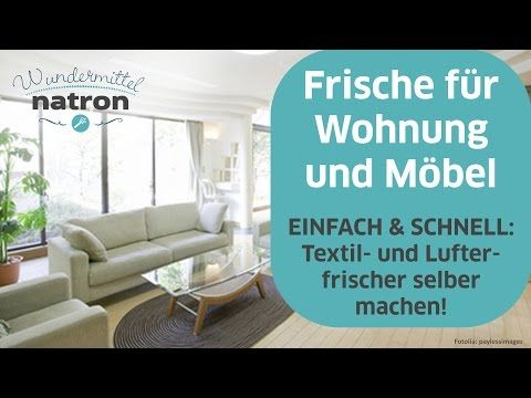 textilerfrischer mit natron selber machen youtube home pinterest polster reinigen sofa. Black Bedroom Furniture Sets. Home Design Ideas
