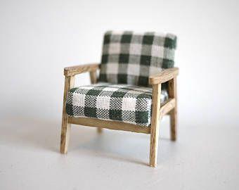 Miniatuur Design Meubels : Miniatuur fauteuil poppenhuis meubels miniatuur bankstoel met