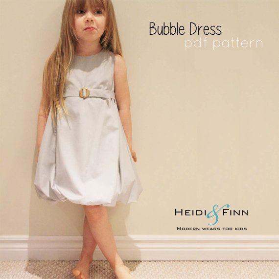 Bubble Dress Pattern and tutorial 12m-5T DIY pdf pattern EASY | ropa ...