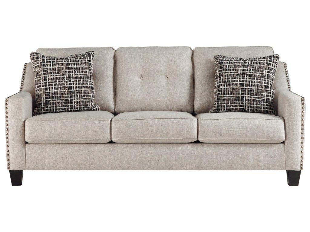 Marrero Contemporary Sofa with Nailhead Trim by Benchcraft ...