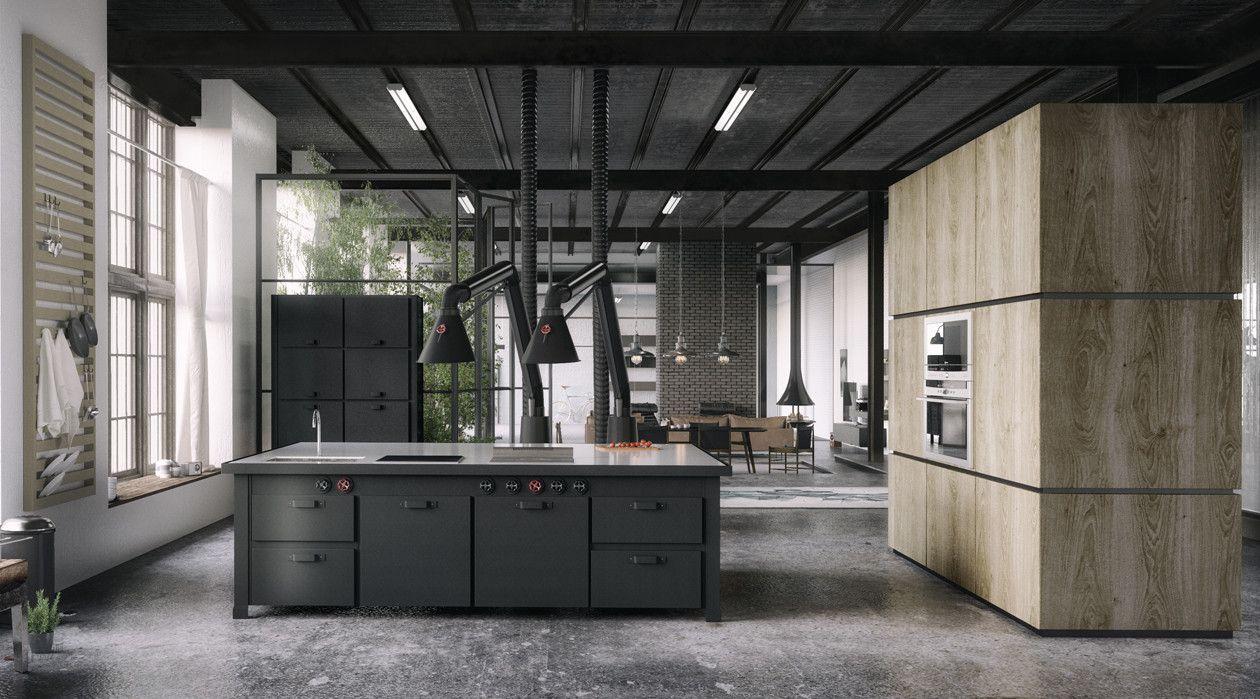 Modern industrial kitchen decor