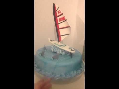 Windsurfing Cake Youtube Geburtstag Und Geburt
