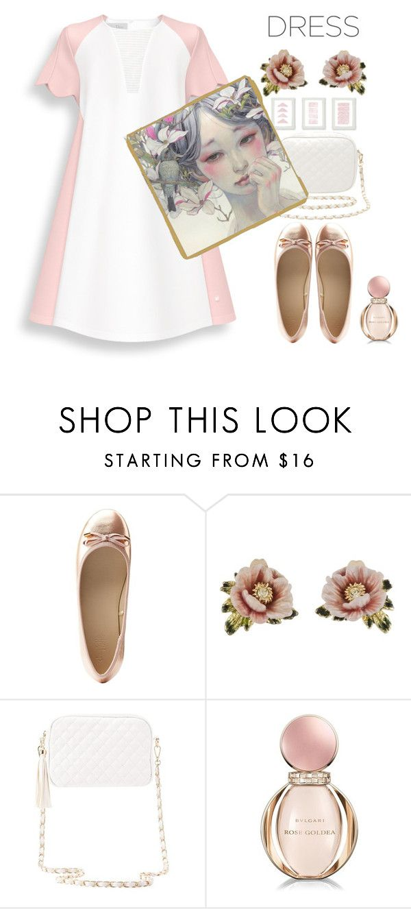 #twotonedress by axenta on Polyvore featuring мода, Charlotte Russe, Les Néréides, Bulgari, twotonedress and axenta