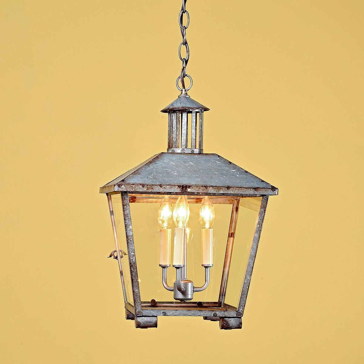 Rustic galvanized lantern welcome home lantern light fixture
