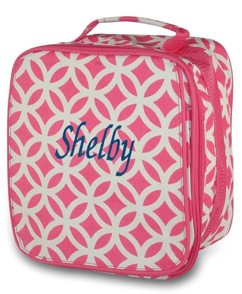 Monogrammed Hot Pink /& Mint Lizzie Backpack; Back to School; Great for Girls; Check out the Entire Lizzie Collection