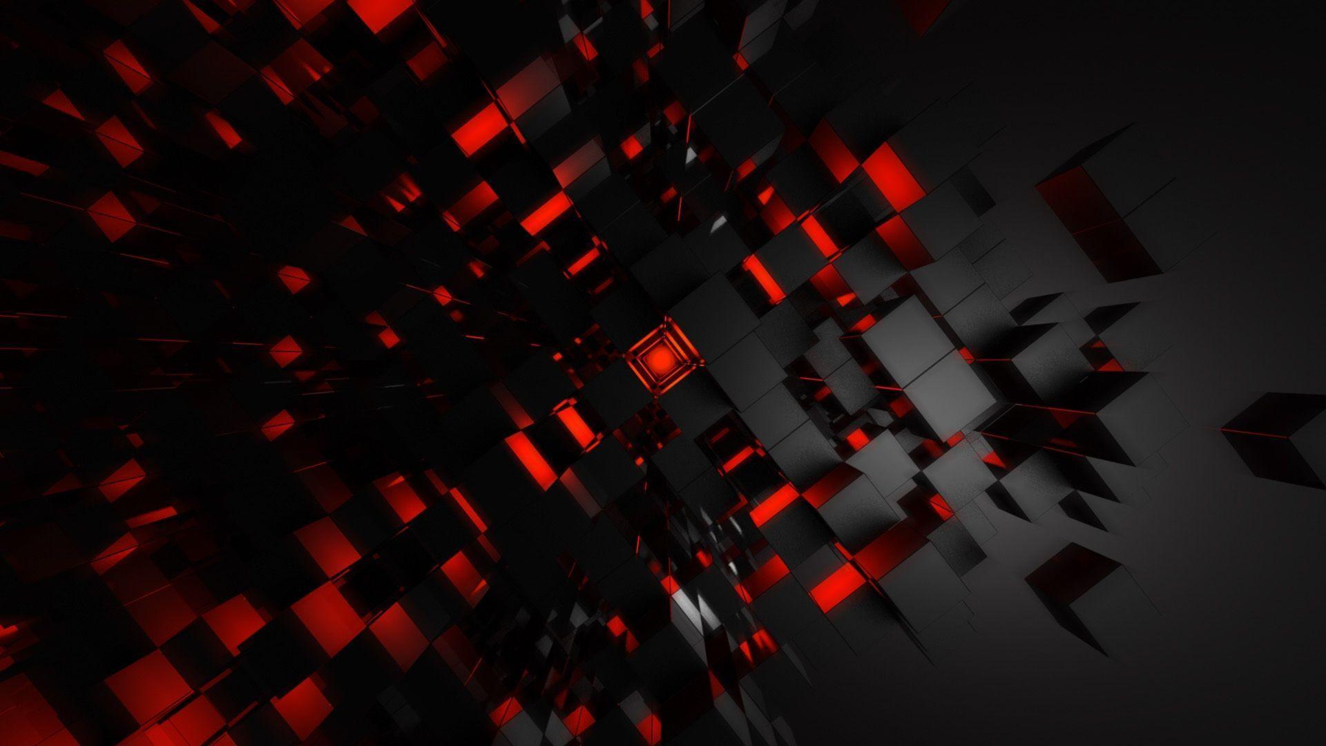 Wallpaper Hd Black Red