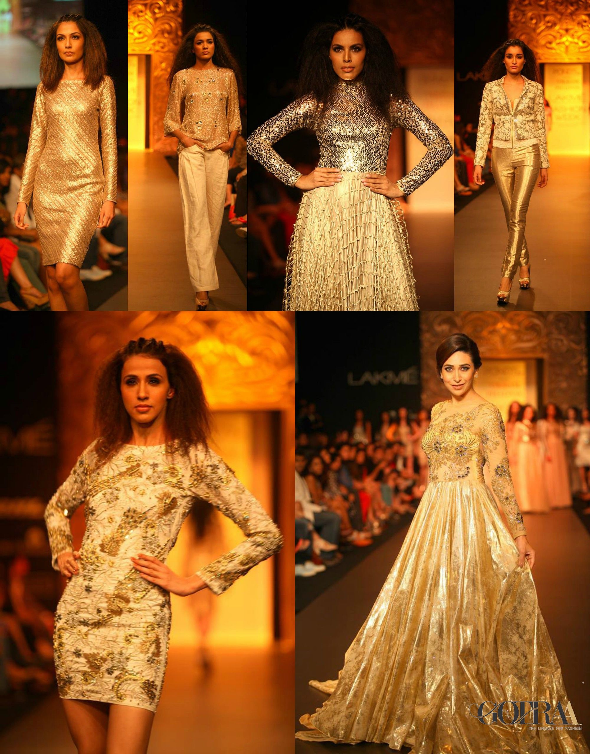Ponds Gold Radiance Collection by Vikram Phadnis at #gotraa #indore           #VikramPhadnis #PGR #LakmeFashionWeek #Throwback #Gowns #EveningWear