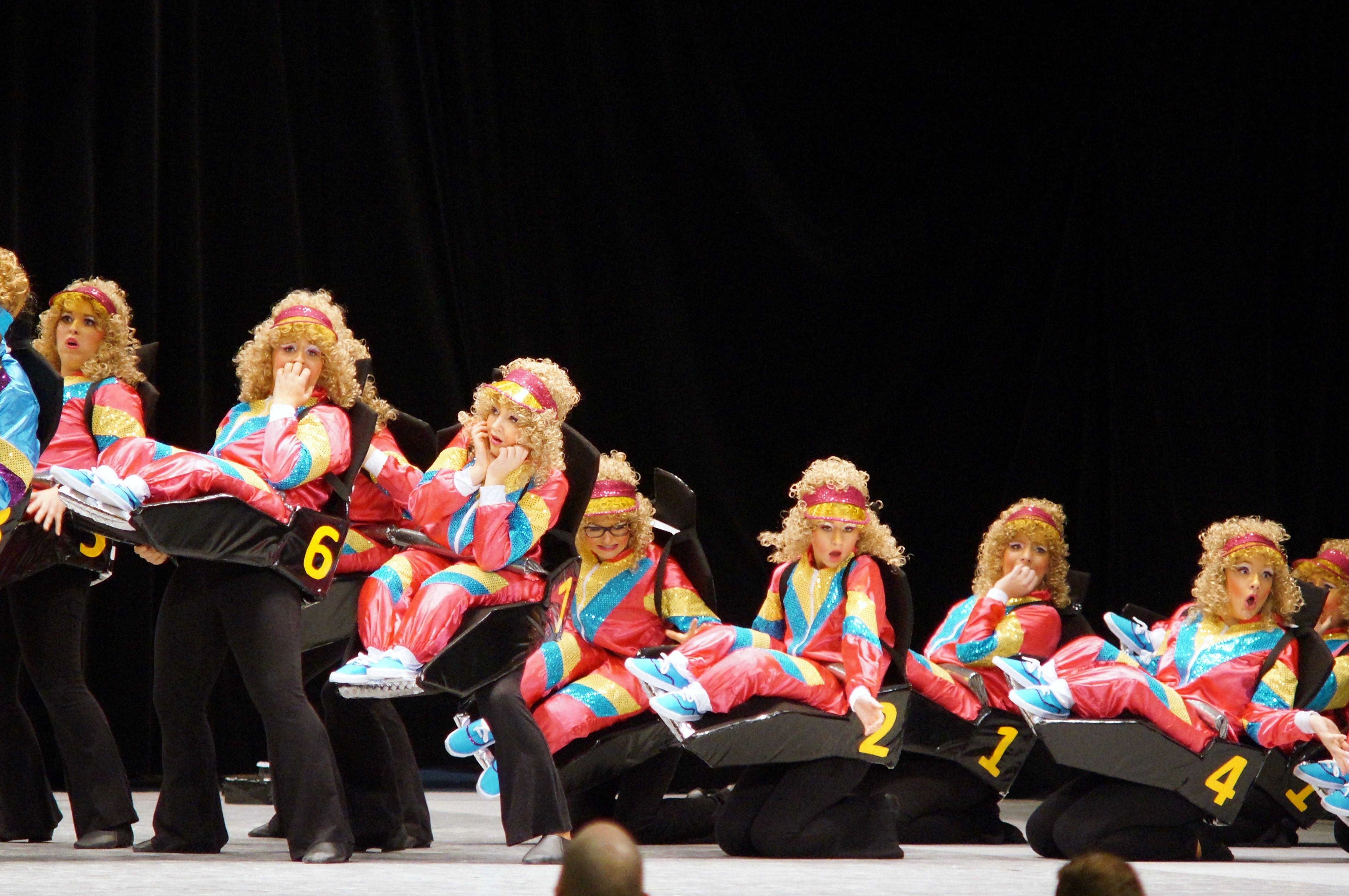 Achterbahn Kostum Karneval Fasching Show Schaukostum Gruppenkostum