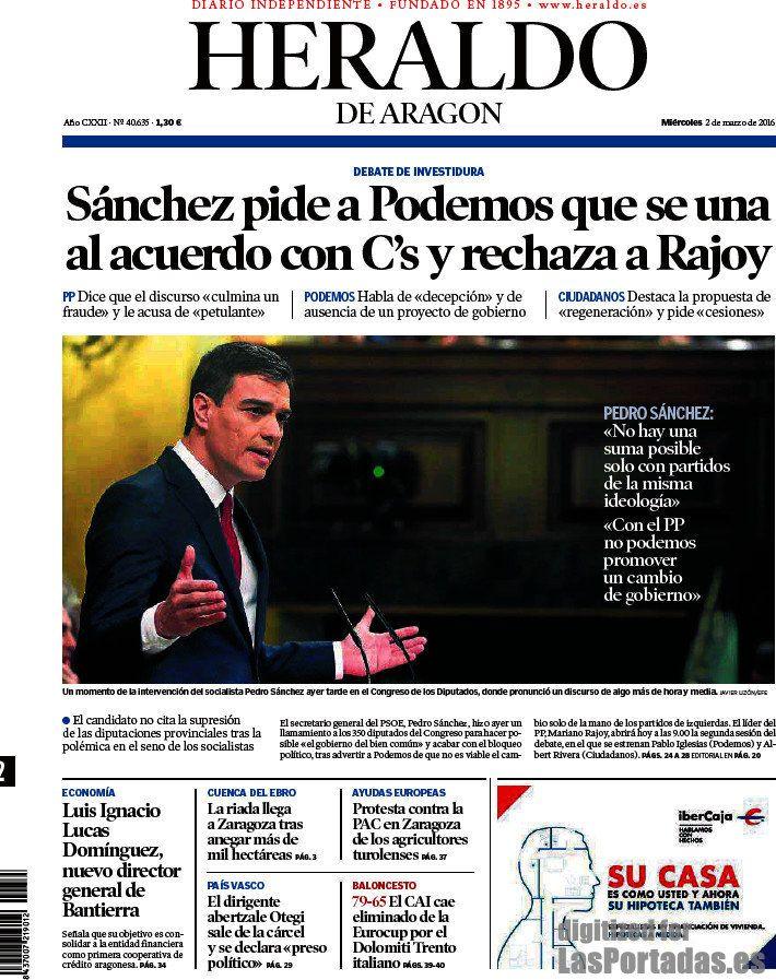 Heraldo de Aragón. Periódico de Aragón digital heraldo.es