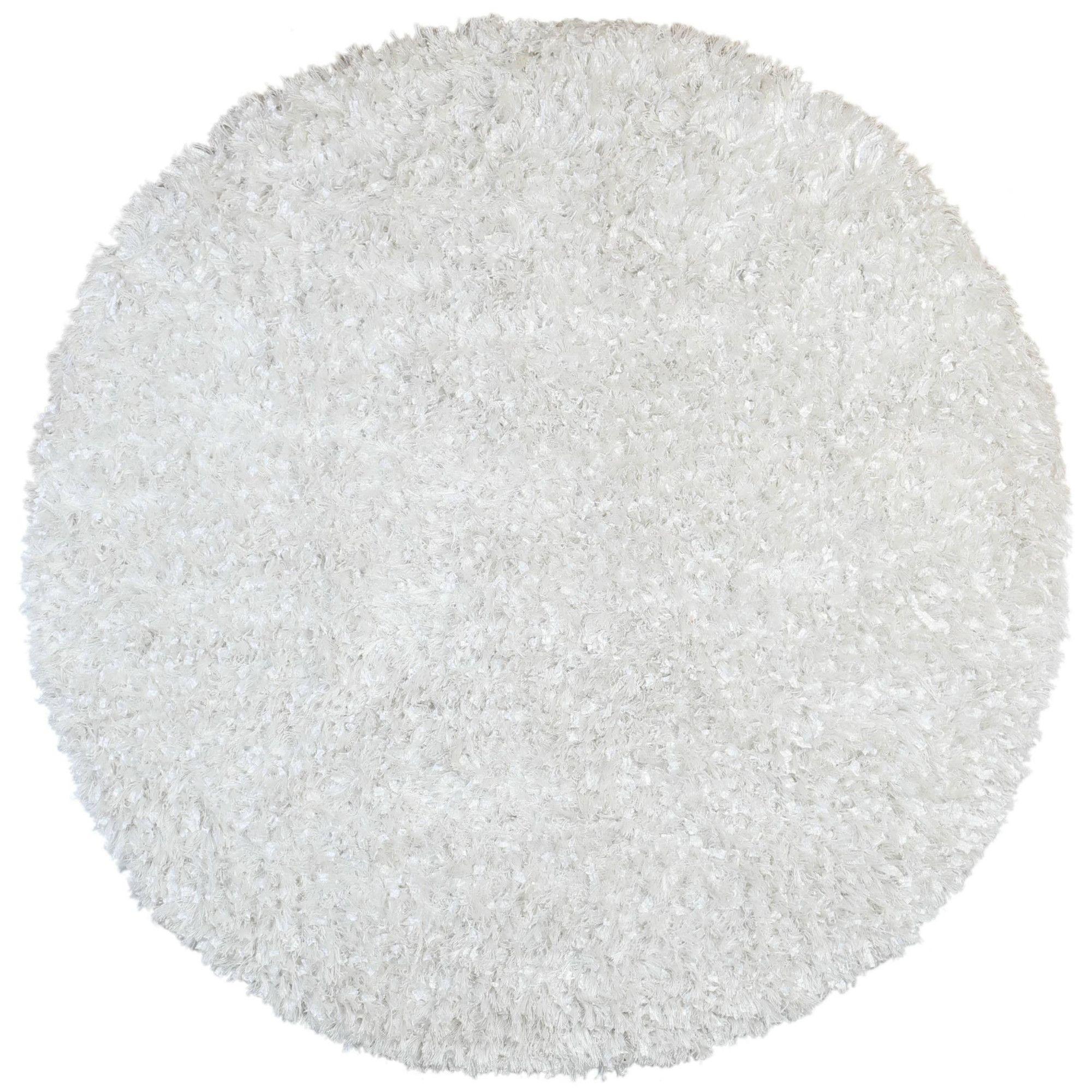 Shimmer Hand-Loomed White Area Rug