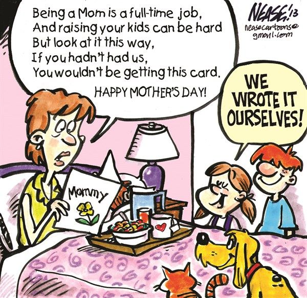 Happy Mother S Day Happy Mother S Day Funny Mothers Day Cartoon Funny Cartoons Jokes