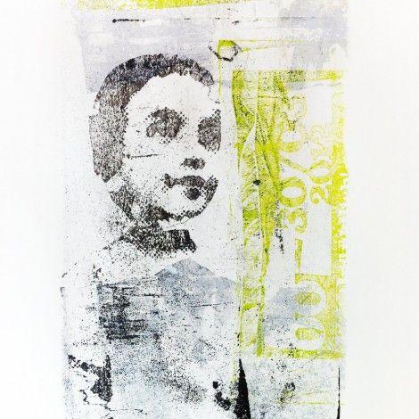 Odile Lueken, Transferlithografie auf LineArt Papier, Lithograph, Printmaking, Print, Lithografie