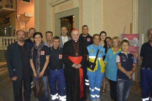 Gruppo con il Cardinale