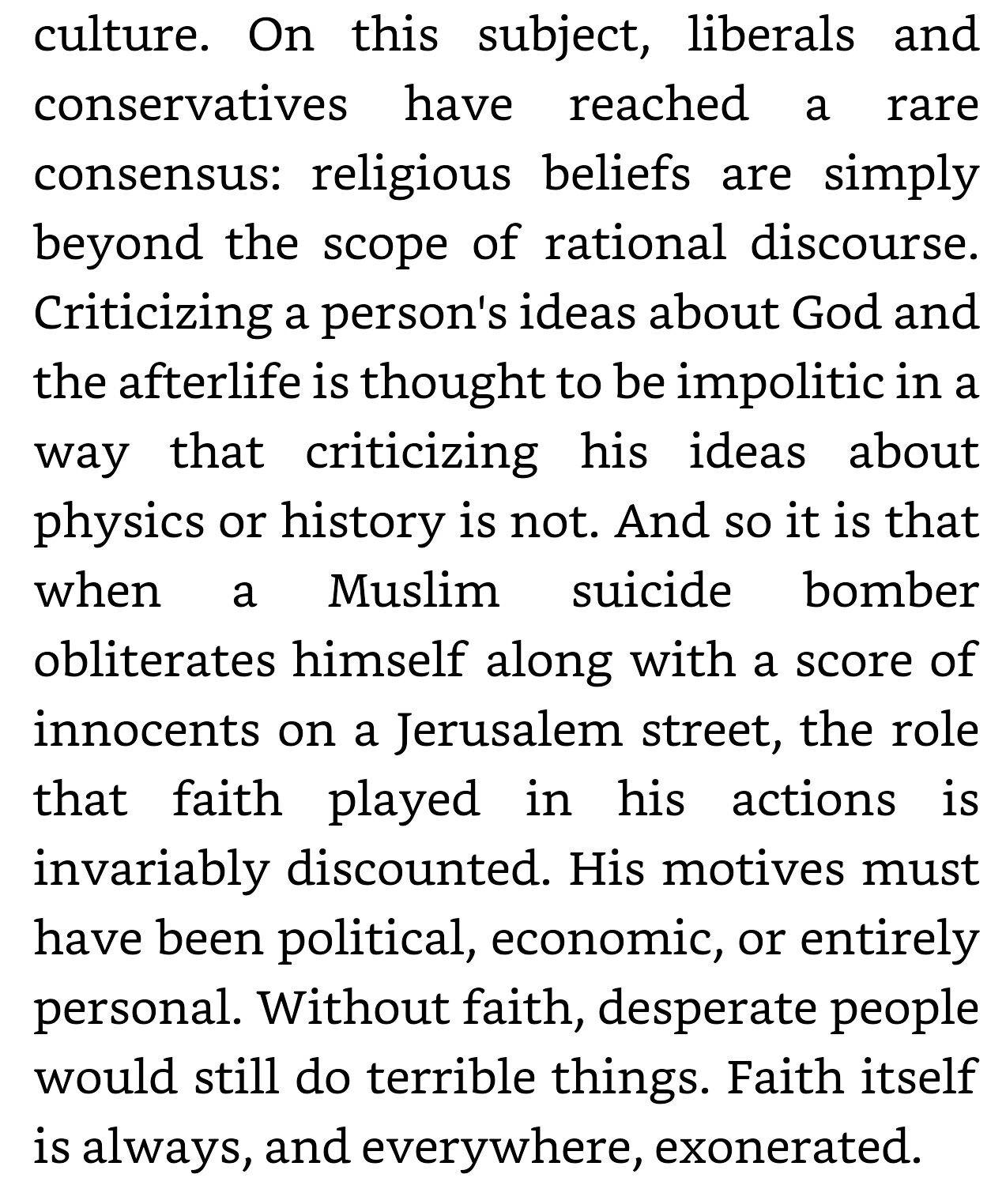 End of Faith by Sam Harris
