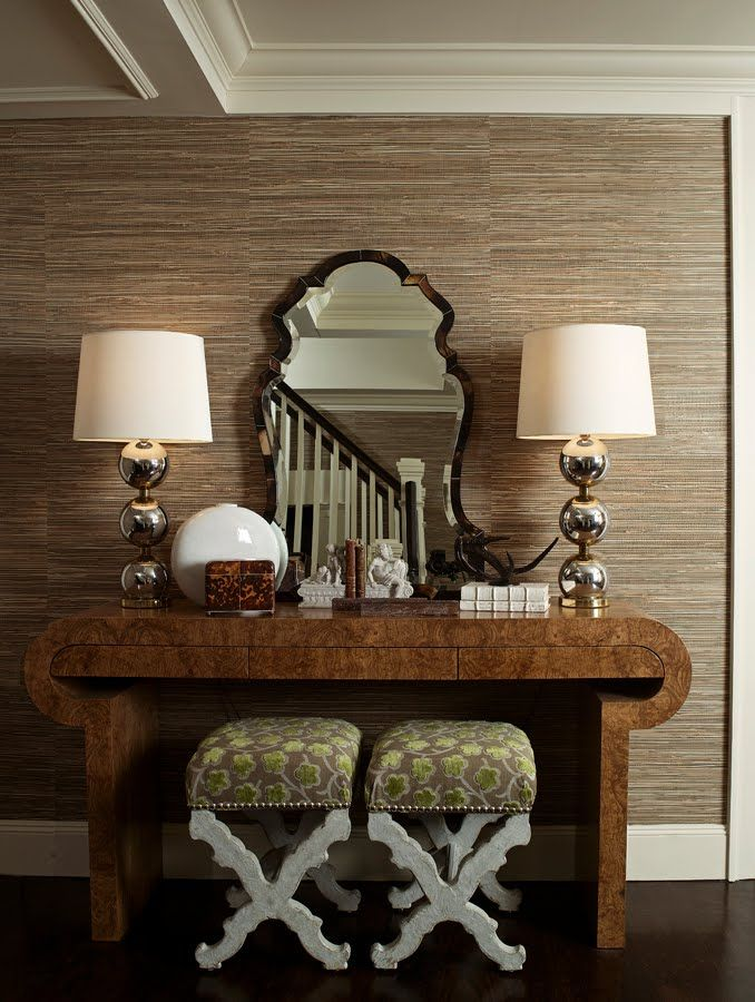 Foyer Wallpaper Quotes : Entryway the symmetry of this wonderfully chic