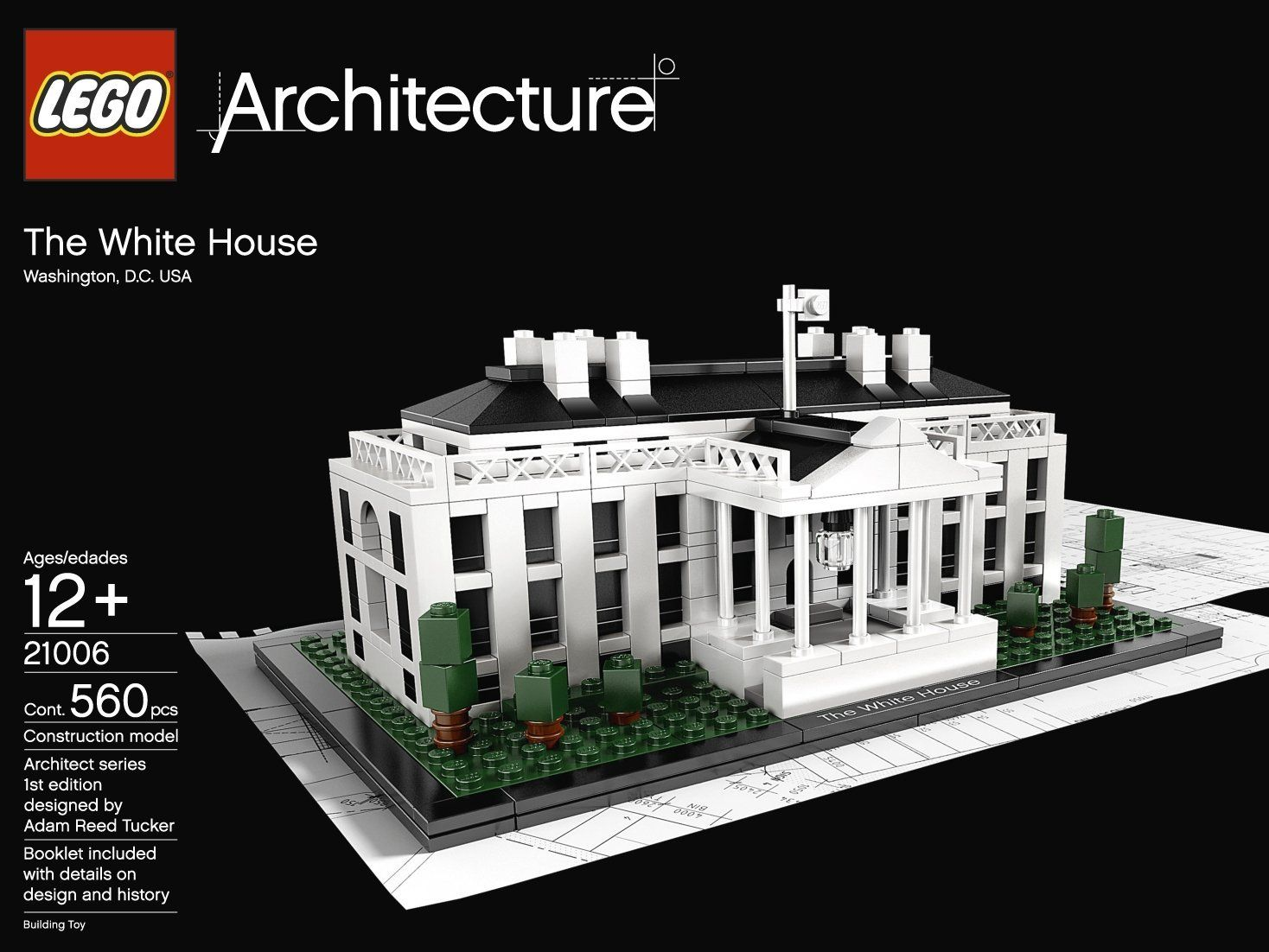 Amazon.com: LEGO Architecture White House (21006): Toys U0026 Games
