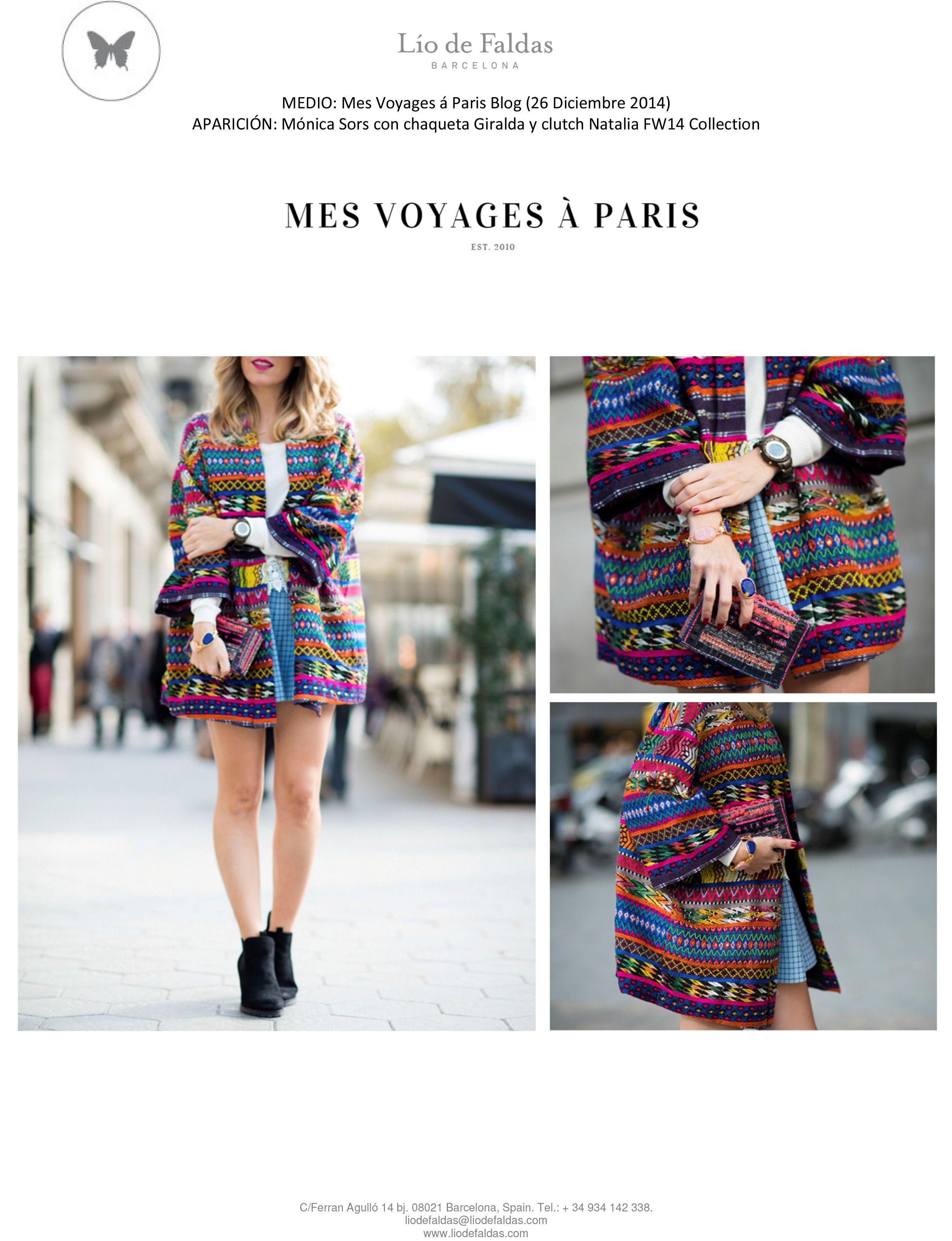 Mes voyages à Paris (December 2014) FW14 Collection. Colorful jacket Giralda.