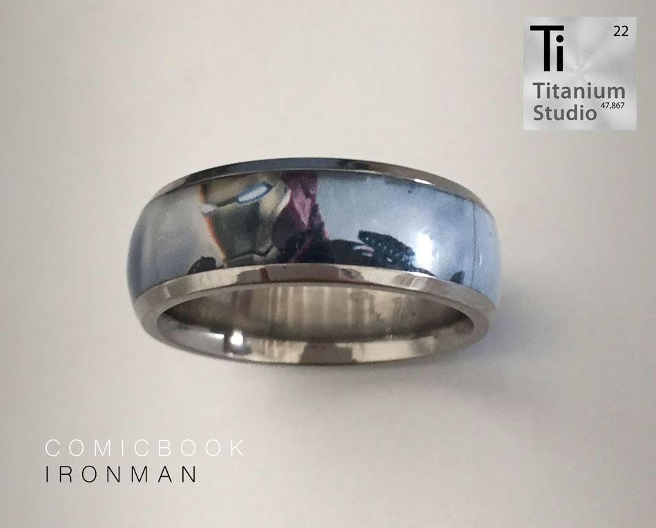 Ironman Ring Titanium Rings Black Titanium Ring Superhero Rings