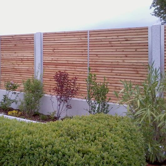 Granit Holz Edelstahl Zaun