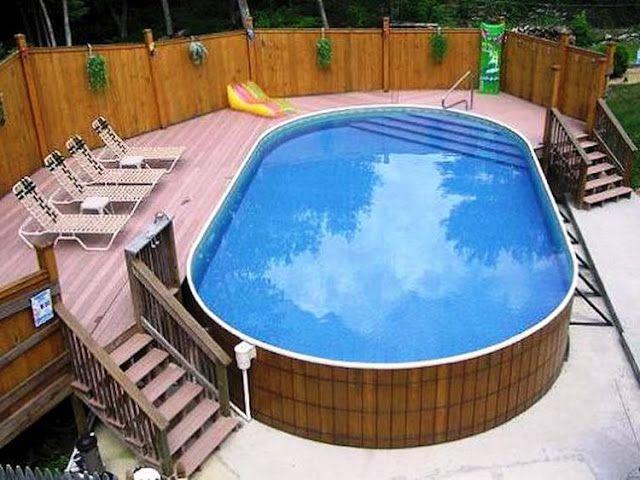 Bewundernswerte oberirdische Pool-Ideen