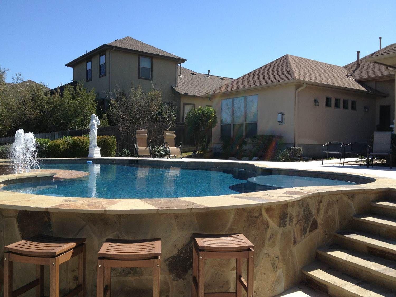 Swim Up Bar Pool Is In San Antonio Tx