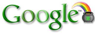 Google Doodle: St. Patrick's Day 2001