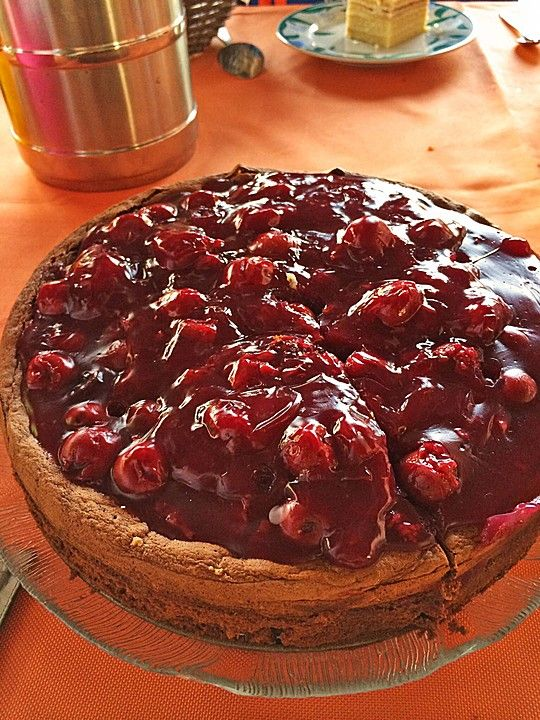 Schoko Kirsch Kuchen Ohne Mehl Und Zucker Recetas Dulces Kuchen