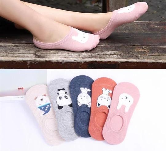 Comfortable Animal Design Lady Cotton Socks Soft Boat Socks Low Cut Ankle Socks