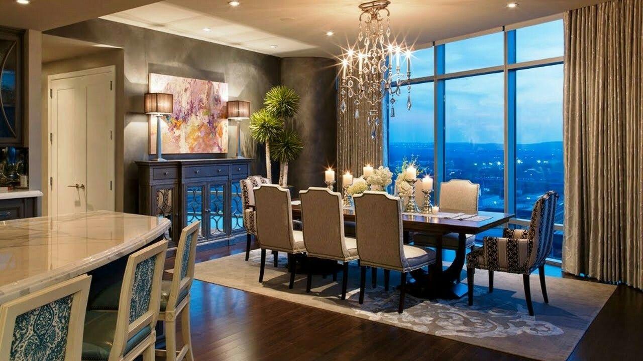 Luxurious Design For A Condominium Contemporary Dining Room Design Interior Design Dining Room Dining Room Design