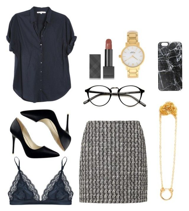 """Office-wear"" by stine-friis-hals on Polyvore featuring L.K.Bennett, Kate Spade, Burberry, Xirena, STELLA McCARTNEY, Casetify, minimalstyle and omchstyle"