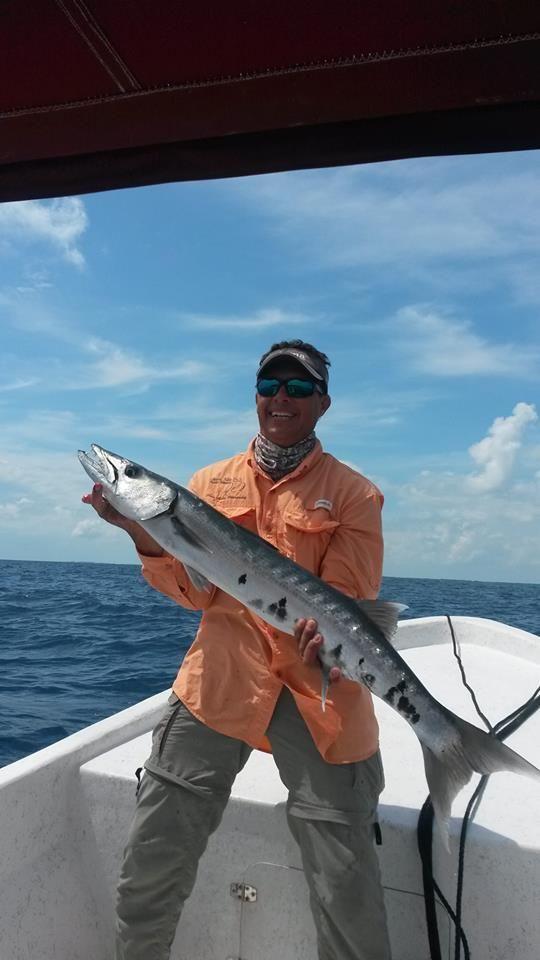 big cuda fishing with Elsley Usher Caye Caulker, Belize