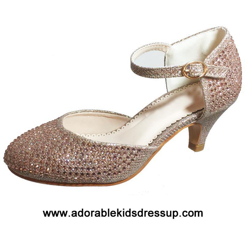 725c5863379 Kids High Heels - gold-gz in 2019 | girls high heel shoes | High ...