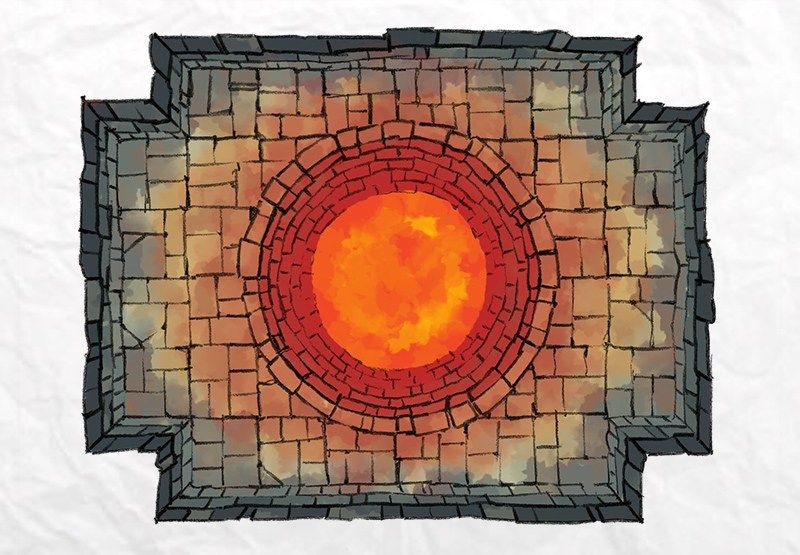 The DUNGEON WELL & CHASM map tiles by Dungeon tiles
