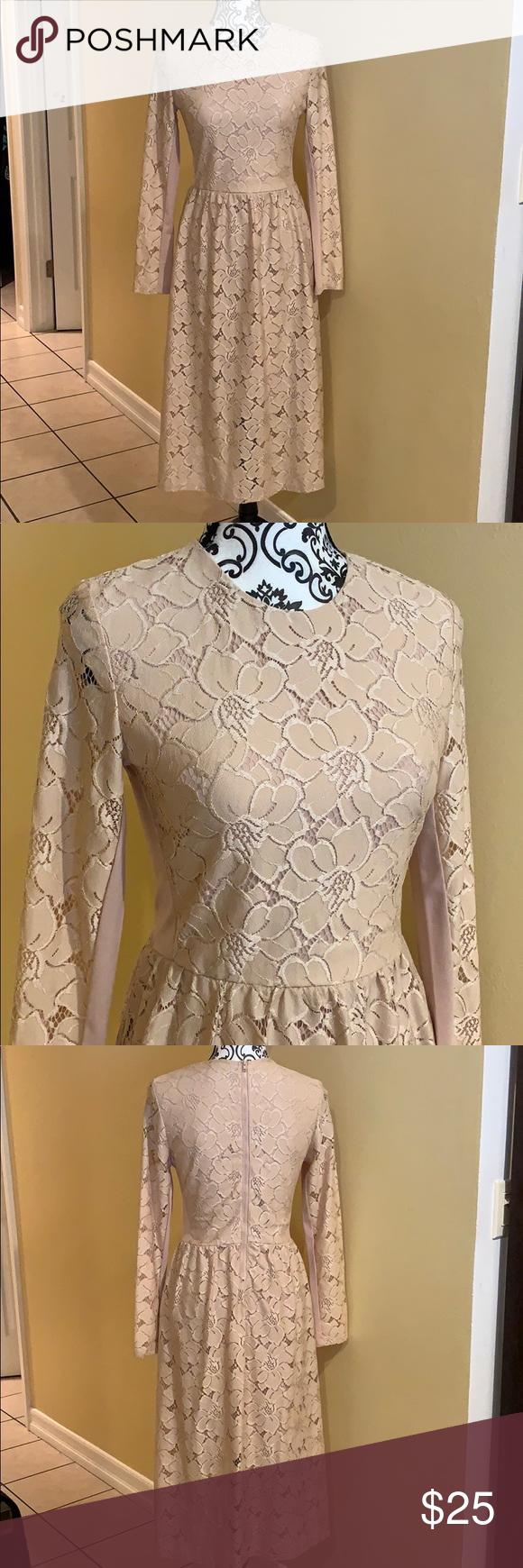 H M Blush Pink Lace Long Sleeve Dress Long Sleeve Pink Lace Dress Long Sleeve Lace Dress Long Sleeve Print Dress [ 1740 x 580 Pixel ]