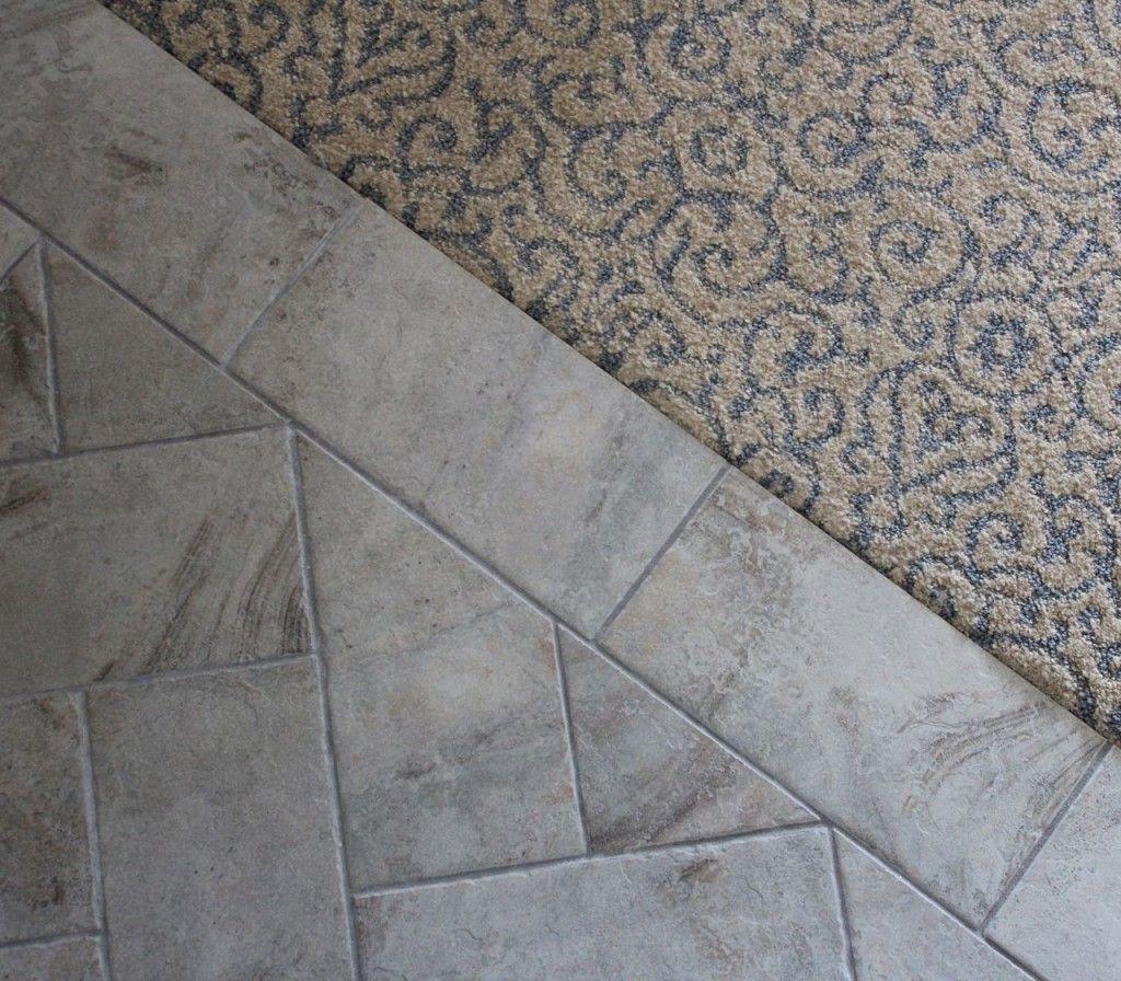 carpet to tile transition ideas   basement   Pinterest ...