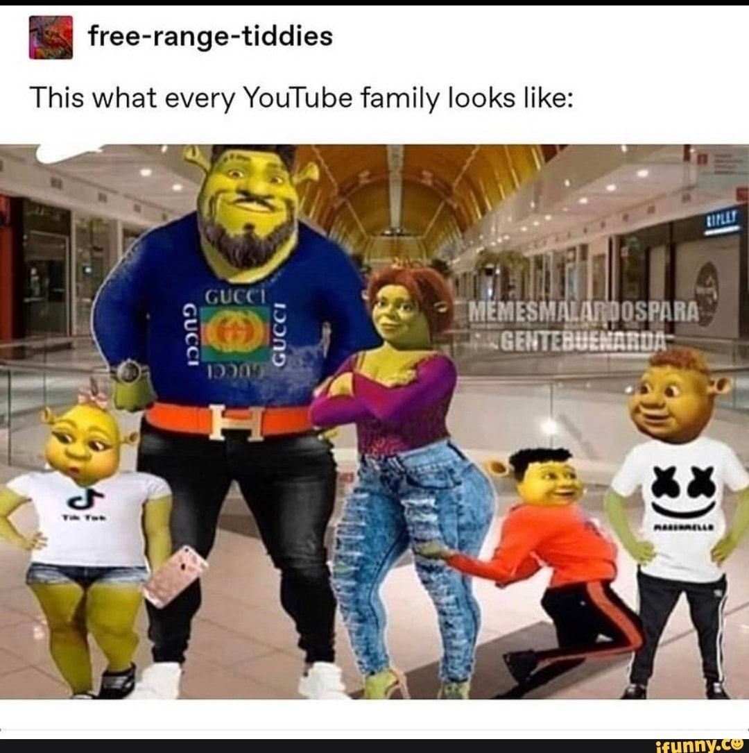Fees Free Range Tiddies This What Every Youtube Family Looks Like Ifunny Really Funny Memes Stupid Funny Memes Funny Relatable Memes