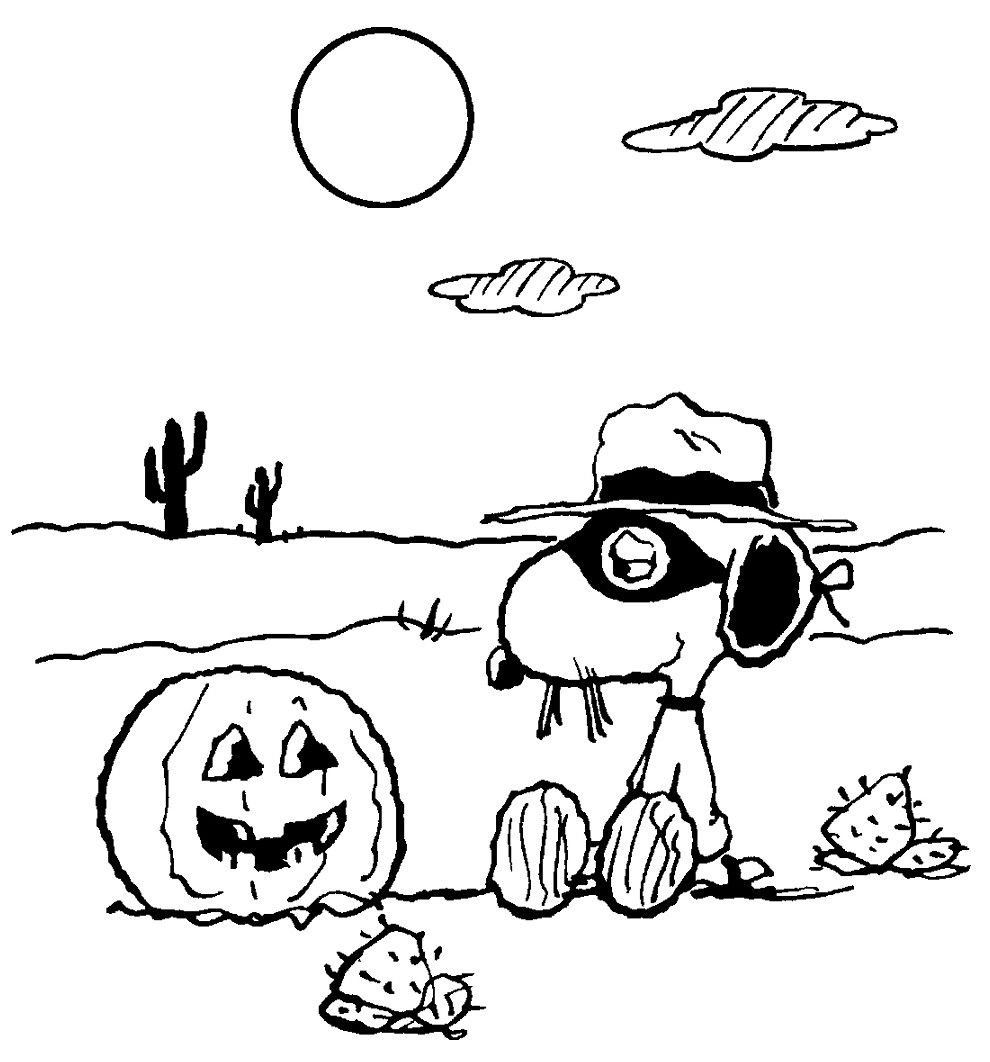 Free Snoopy Thanksgiving Coloring Pages more pages to