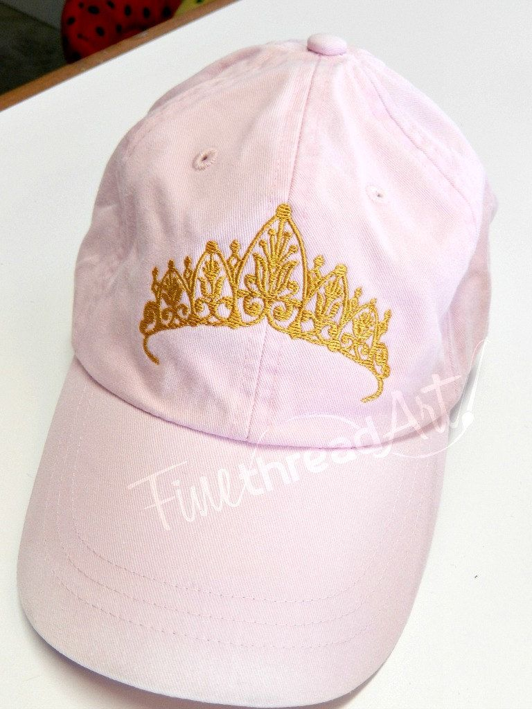 07d2fffbba3 Cap · LADIES Princess Tiara with Side Monogram Baseball Cap Hat LEATHER  strap ...