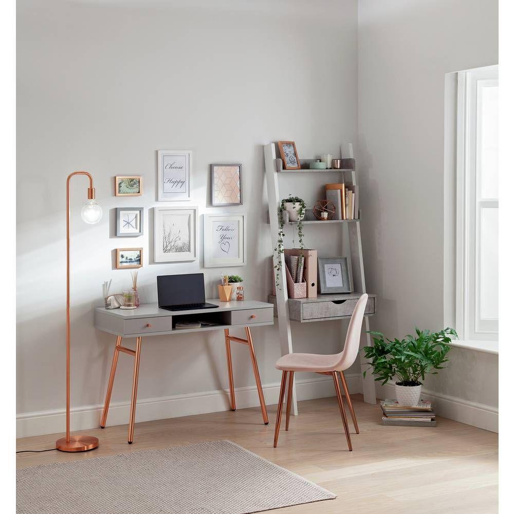 Buy Argos Home Valence Office Desk Rose Gold Desks Argos